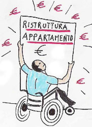 disabile con manifesto